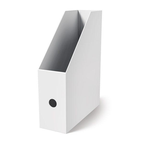 Поставка вертикална картонена MAS, модел 8222,  10.5см оп.4 бяла