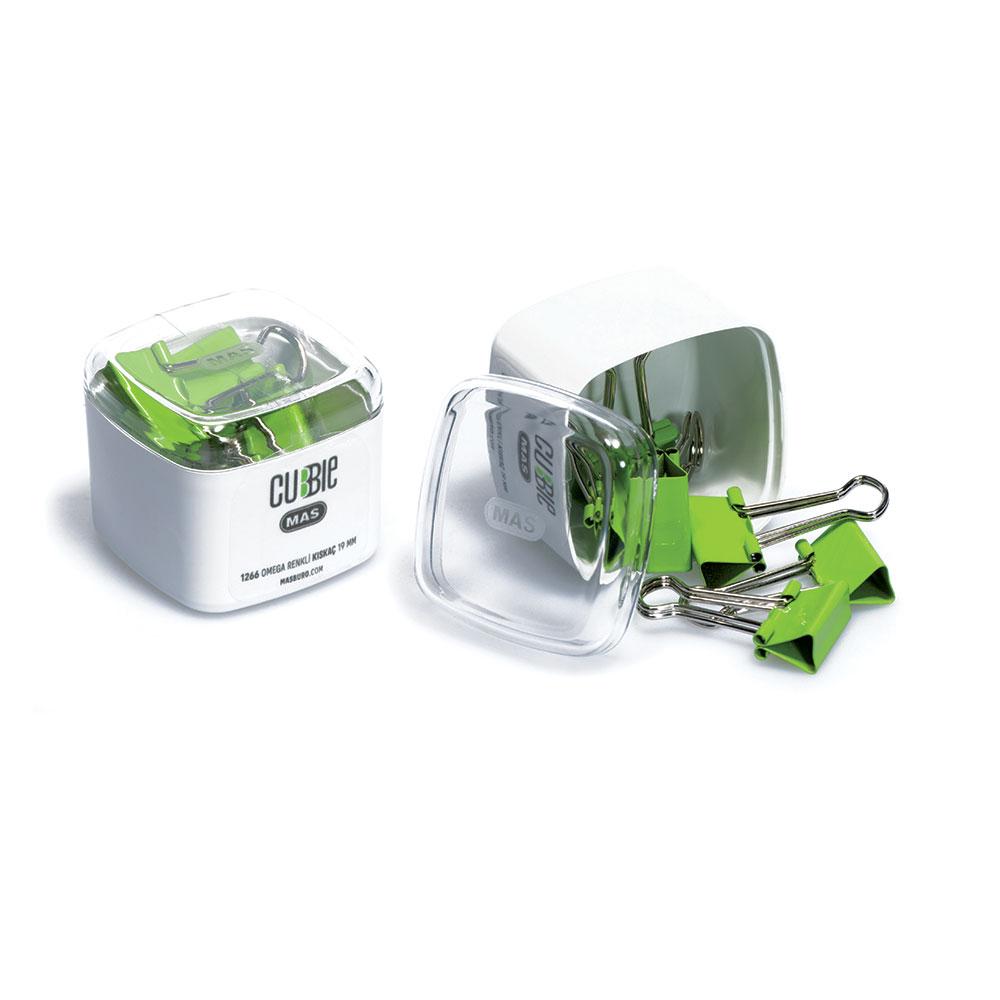 Щипки за пари MAS Cubbie модел 1266 - 6,  19мм цветни оп.6 зелени