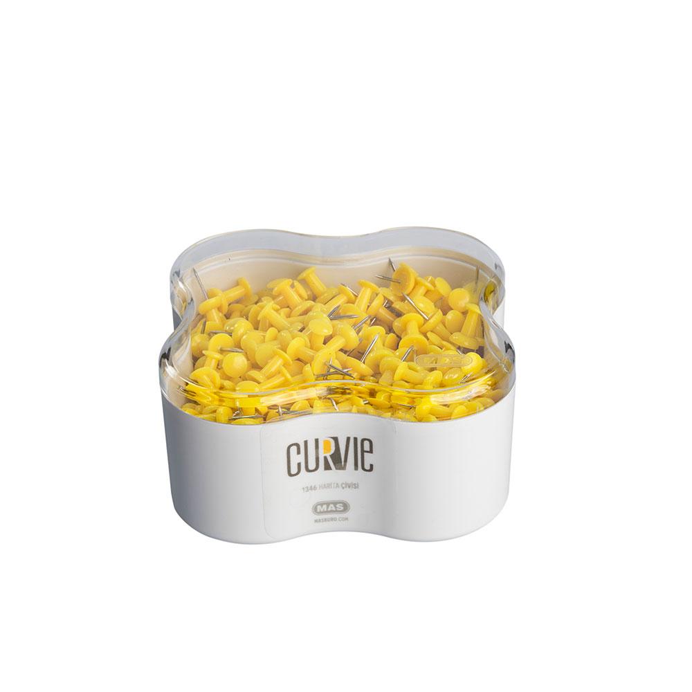 Пинчета MAS, модел 1346  Curvie оп.350 жълти