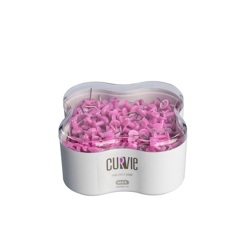 Пинчета MAS, модел 1346  Curvie оп.350 розови