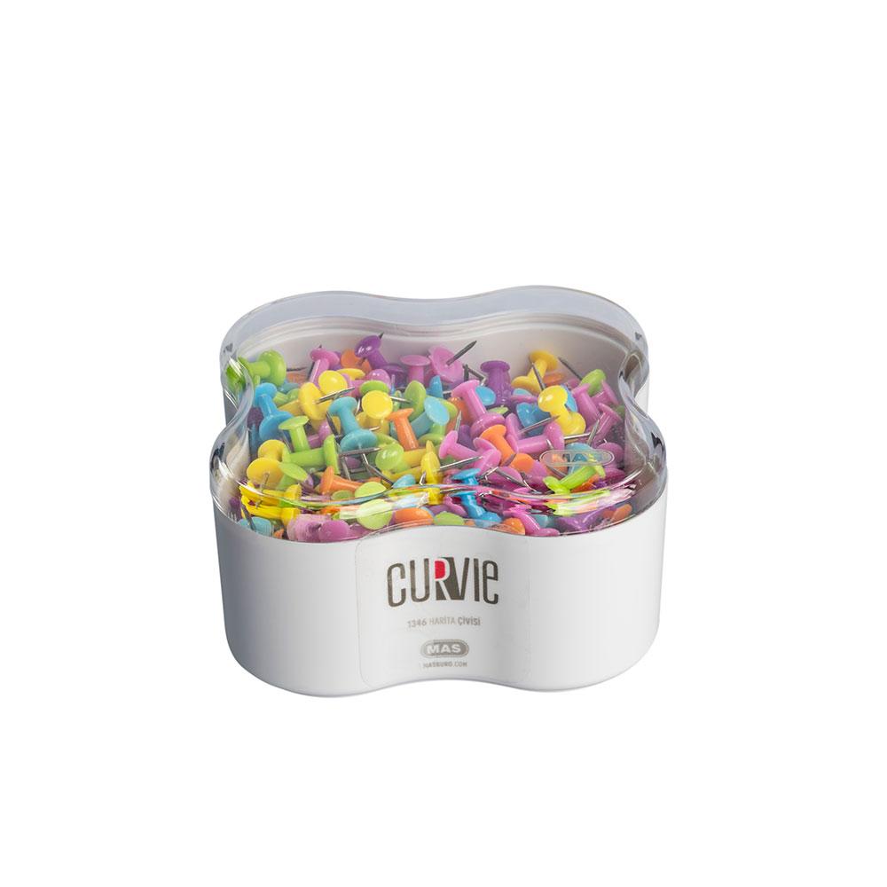Пинчета MAS, модел 1346  Curvie оп.350  различни цветове