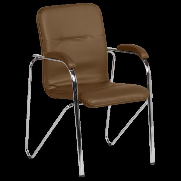 Посетителски стол Samba D - Тъмно кафяв
