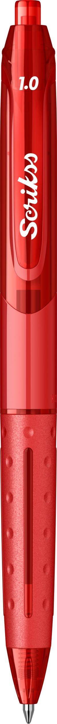 Гел химикалка Scrikss 1.0, модел 53406, Хубрид Червено