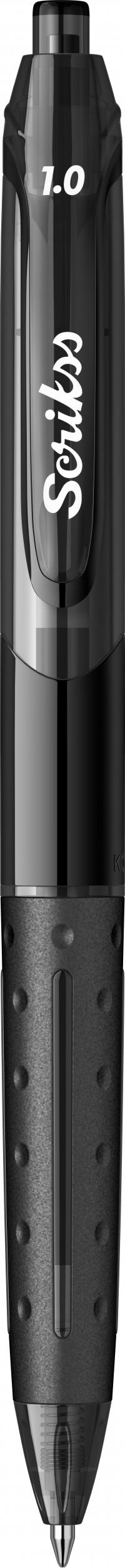 Гел химикалка Scrikss 1.0, модел 53413, Хубрид Черно