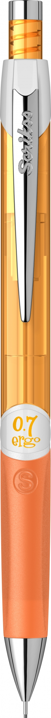 Механичен молив Ergo Scrikss 0,7мм., модел 72209, , Неон Оранжев