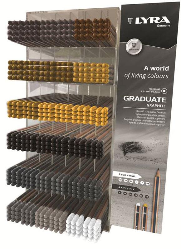 Дисплей графитен Lyra Graduate Плексиглас 432 броя