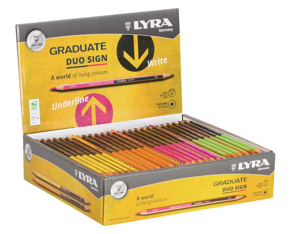 Дисплей за моливи Lyra Graduate Duo  72 броя