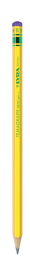 Графитен молив LYRA TEMAGRAPH  в картонена кутия 12 бр - 3B