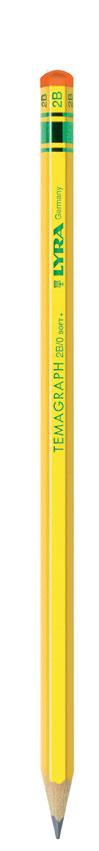 Графитен молив LYRA TEMAGRAPH  в картонена кутия 12 бр - 2B