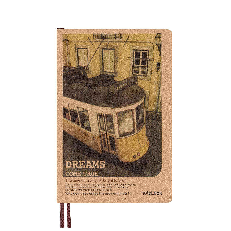 Бележник с твърди корици Scrikss DL32128A-2 W/OL, модел 67328, Train   B6