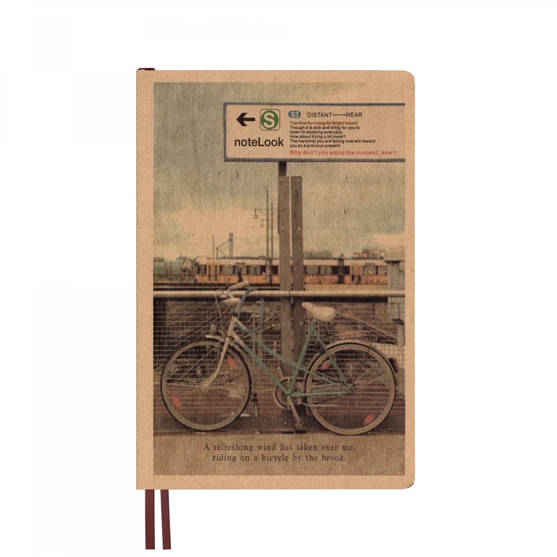 Бележник с твърди корици Scrikss DL 32128A-4 W/OL, модел 67342,   Bicycle  B6