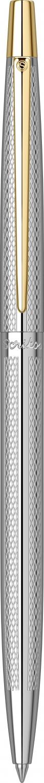 Химикалка Scrikss Venus 711W, модел 59514,  Рибена кост Моделиран златен хром