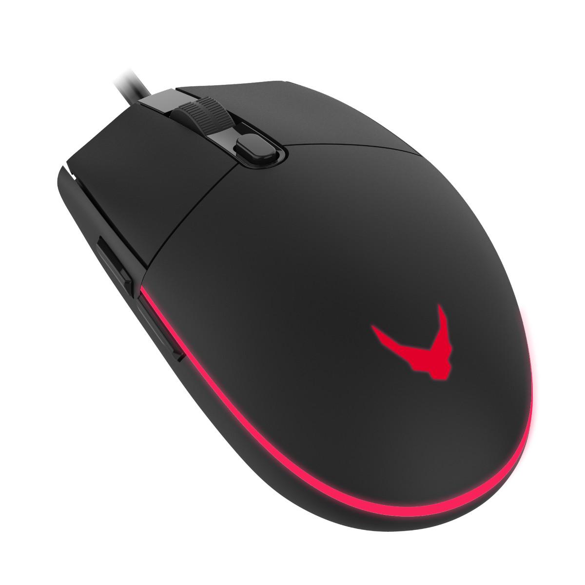 Мишка Omega Varr MP-X5 геймърска+геймърски пад за мишка Omega Червена