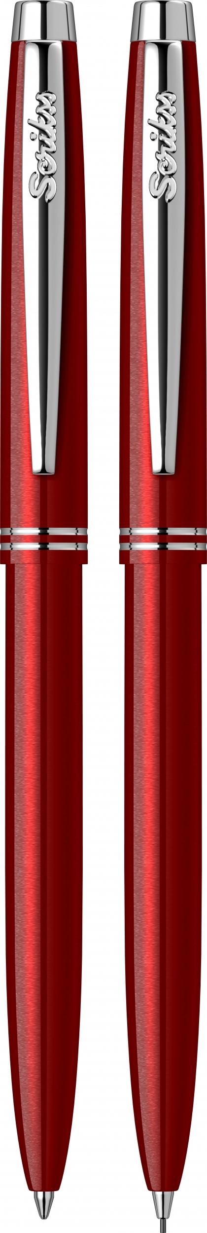 Двоен комплект Автоматична химикалка + Автоматичен молив  Scrikss, модел 81935,  Prestige 108 Червен