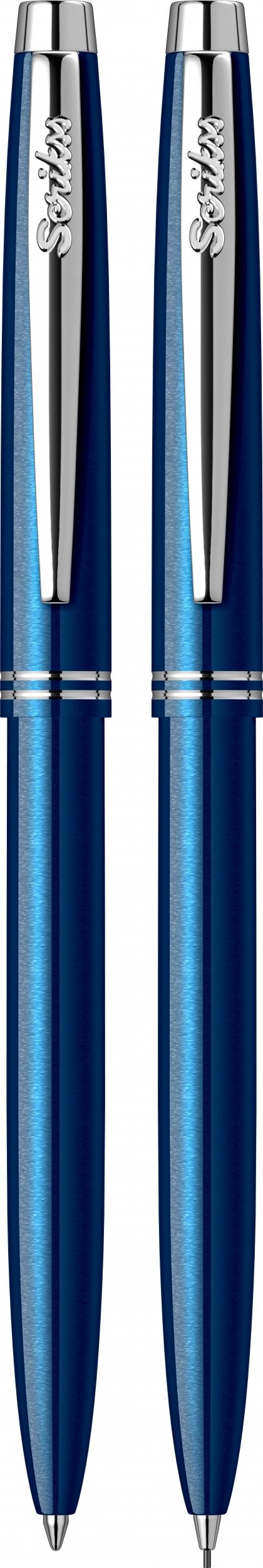Двоен комплект Автоматична химикалка + Автоматичен молив  Scrikss, модел 81935,  Prestige 108  Син