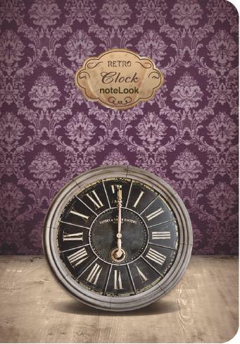 Бележник Scrikss Notelook Notebook Retro Clock , модел 79765,  Ретро часовник облицован,  A6