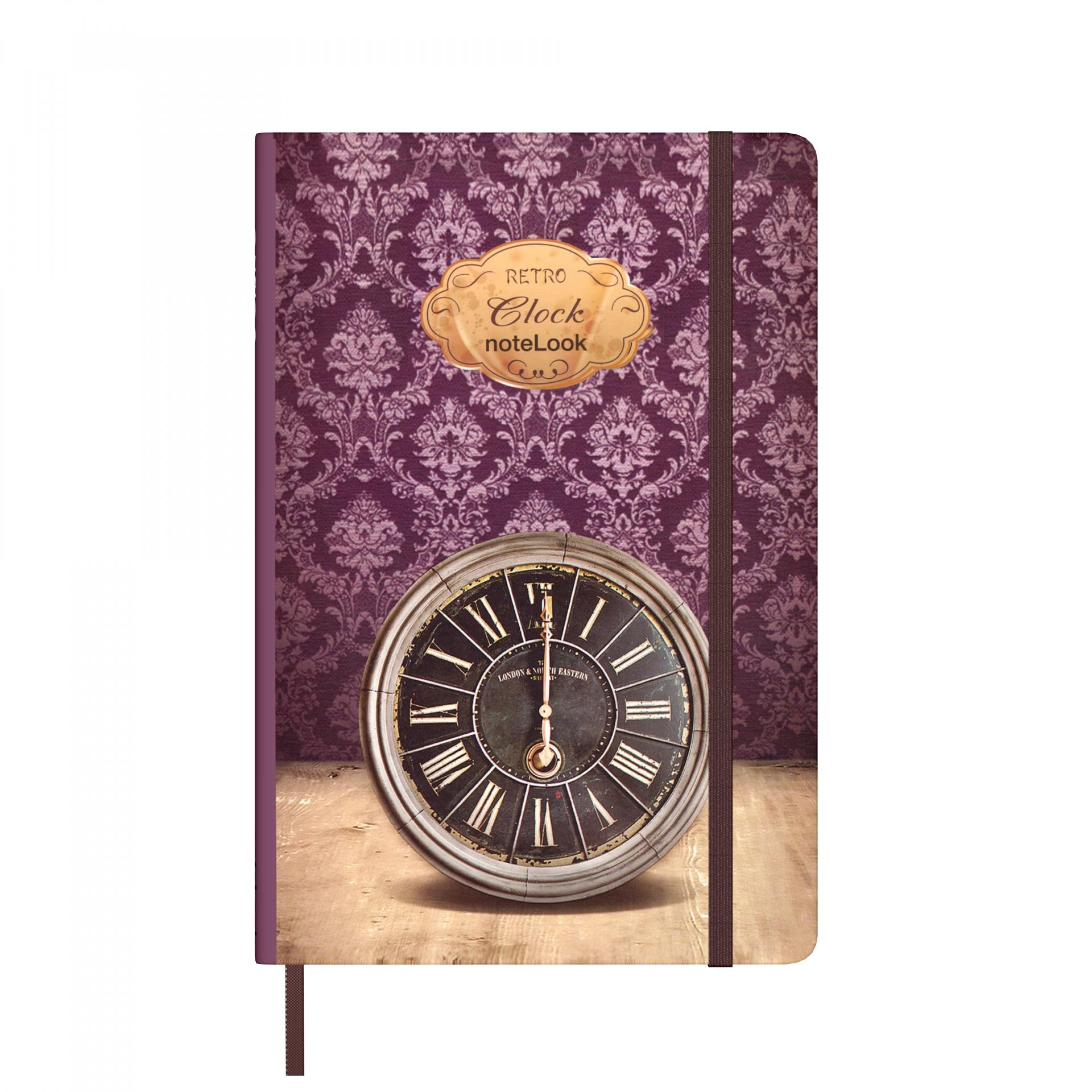 Бележник Scrikss Notelook Notebook Retro Clock , модел 79802,  Ретро часовник облицован,  A7