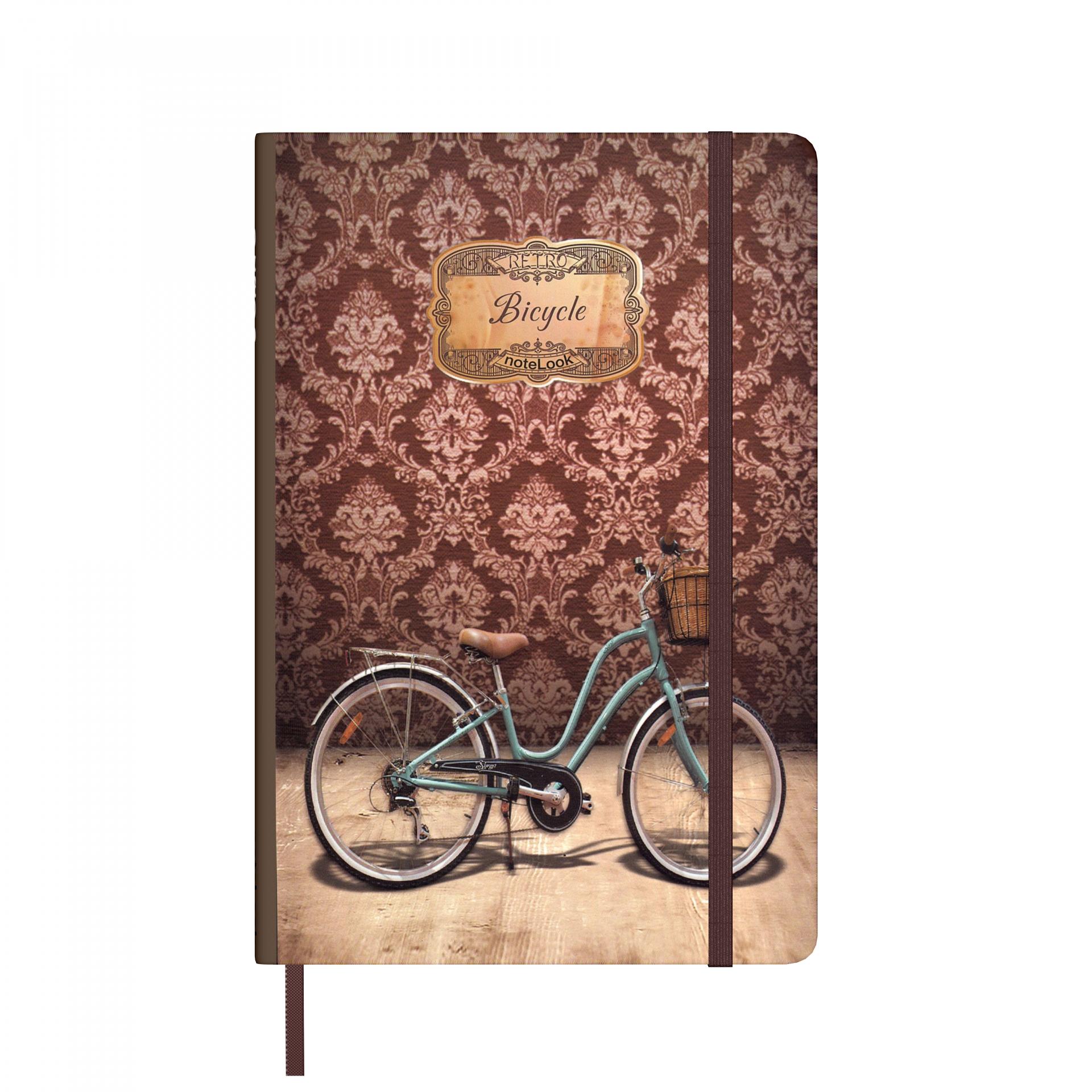 Бележник Scrikss Notelook Notebook Retro Bicycle, модел 79796,  Ретро велосипед на райета,  A7