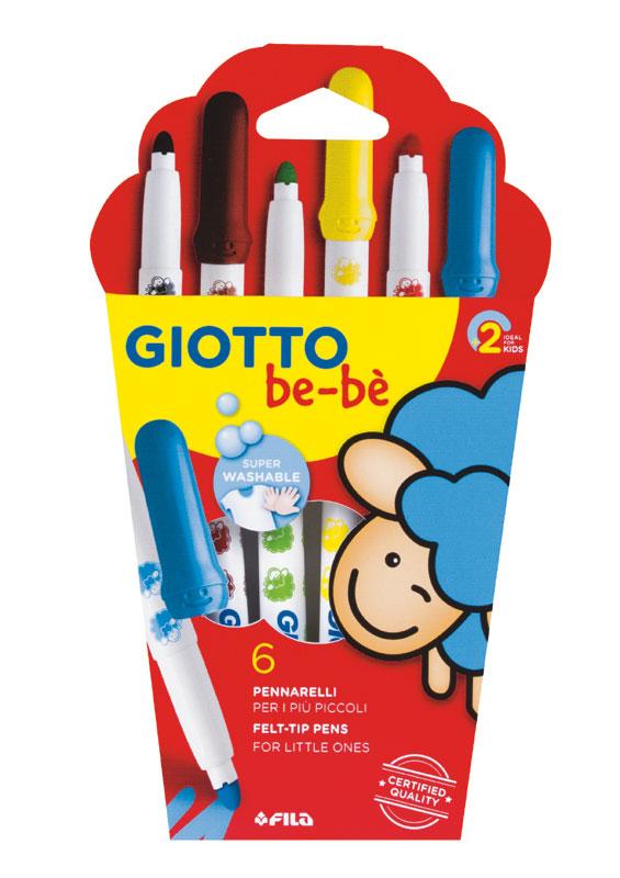 Супер големи флумастери Giotto Be-be 6 цвята