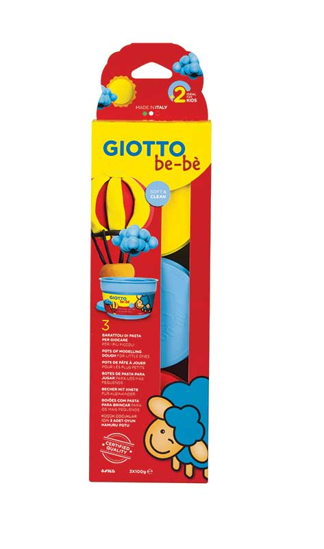 Супер тесто за моделиране Giotto Be-Be Super Modelling Dough Patplume 3х100гр., комбинация цветове- 01