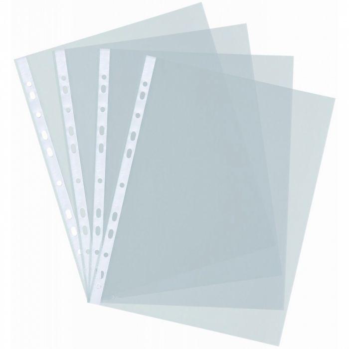 Папка ДЖОБ А4, кристал, с перфорация, в опаковка 100 бр., 60µ