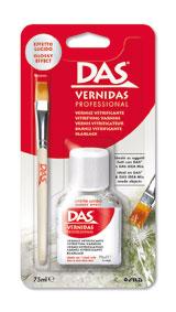 Прозрачен акрилен защитен лак Das Vernidas  75 мл.  +  Четка Profesional