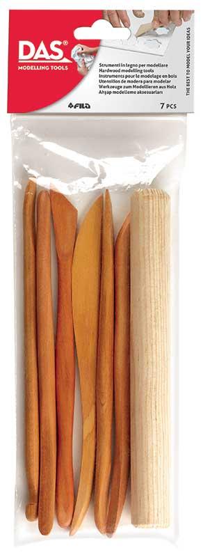 Дървени режещи инструменти Das в чантичка 7 бр.
