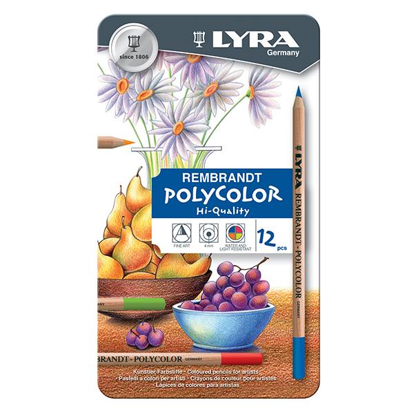 Цветни моливи Lyra Rembrandt Polycolor 12 цвята