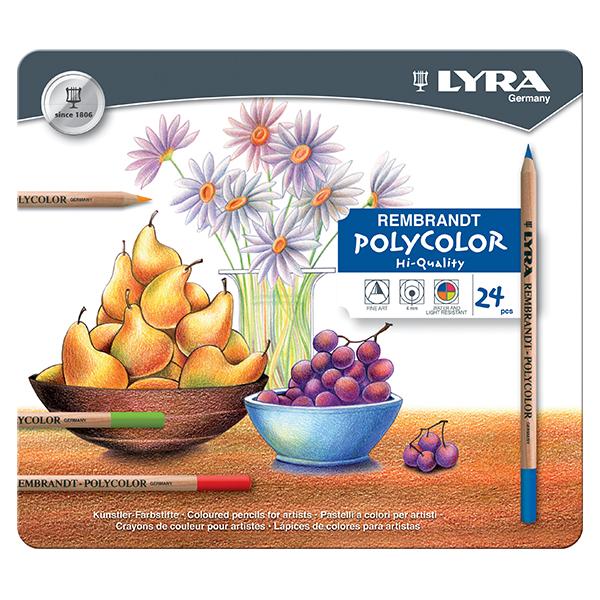 Цветни моливи Lyra Rembrandt Polycolor 24 цвята