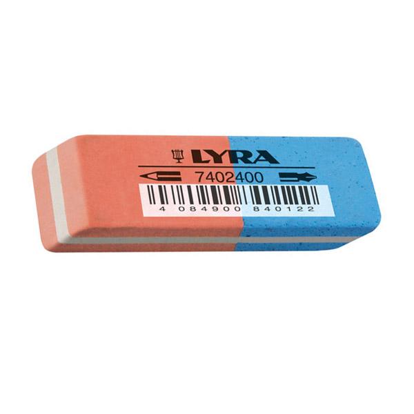 Гума Lyra Правоъгълна, за молив и мастило 55x19x9 mm