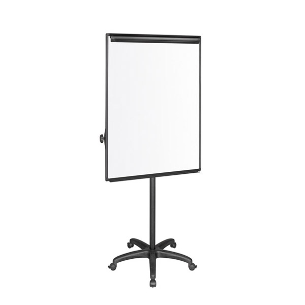 Флипчарт Bi-Office Classic-Магнитен, с две подвижни рамена и колелца, 70x100 cm Черен