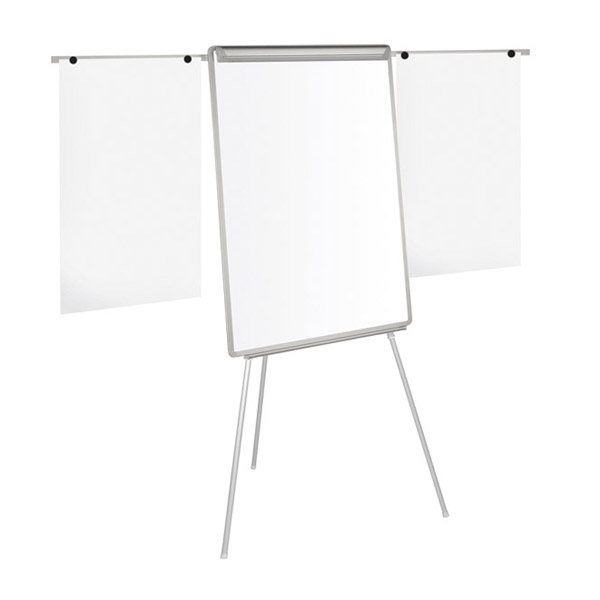Флипчарт Bi-Office Easy-Магнитен, с две рамена, 70x100 cm Сив
