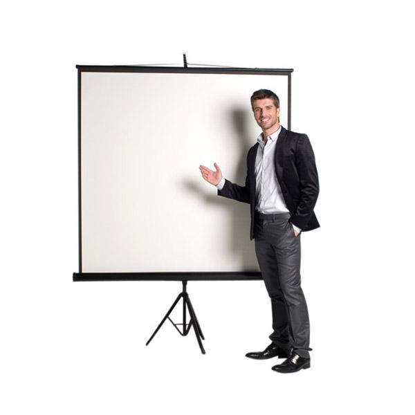 Прожекционен екран Bi-Office Със статив 180x180 cm