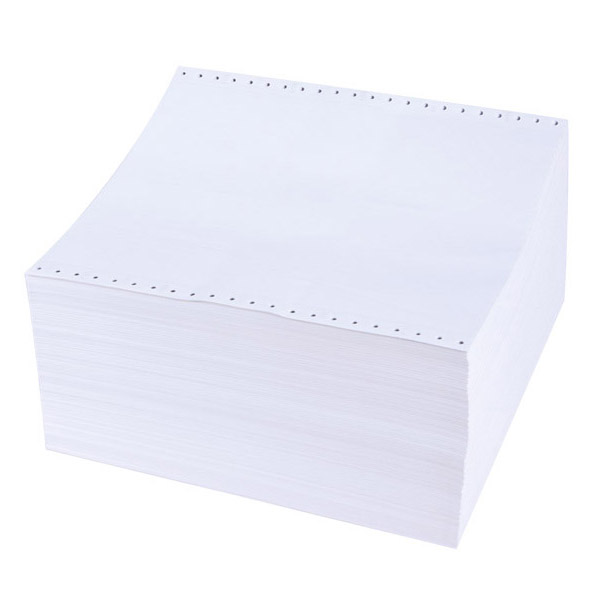 Безконечна принтерна хартия 380/12/2, двупластова, 1000л., бяла