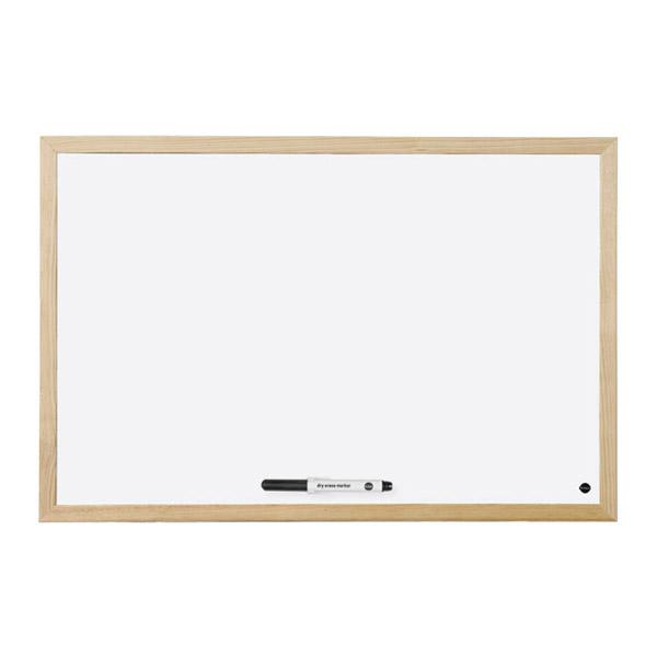 Бяло табло Bi-Office магнитно с дървена рамка, 60х90см.