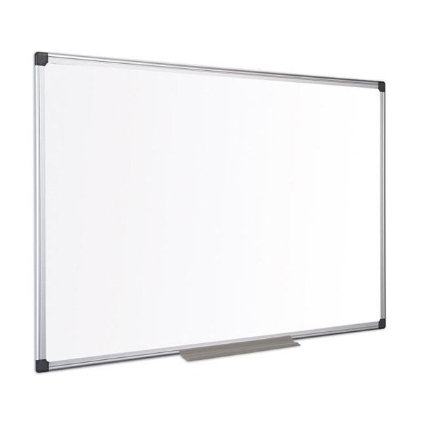 Бяло дъска Bi-Office немагнитна с алуминиева рамка 90х120см.