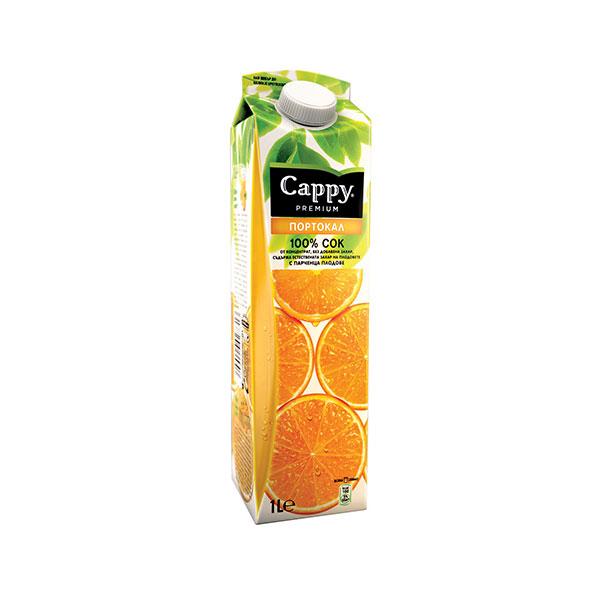 Сок Cappy Портокал 100% портокал, 1л.